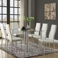 Florian 5538 dining set 7 pc,white Stafford, 77477
