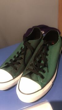 Green converse women's 9 men's 7
