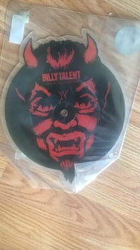 red and black Billy Talent vinyl record