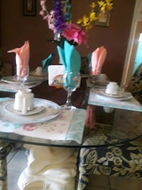 white and pink ceramic table decor Palm Bay, 32907