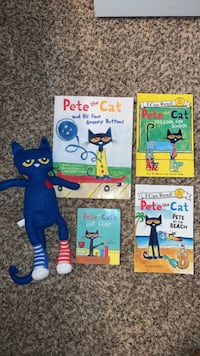 Pete the cat books and stuffed animal  Asheville