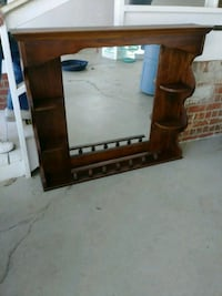 Wall mirror shelve unit