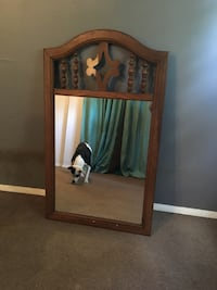 Large wood framed mirror North Fort Myers, 33903