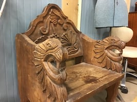 Carved Indonesian Bench