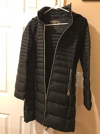 Black and gray zip-up bubble Michael Kors jacket Rockville, 20852