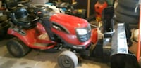 red and black ride-on mower 768 km