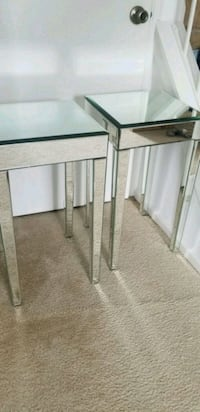 Pair of mirrored nightstand side tables Silver Spring, 20904