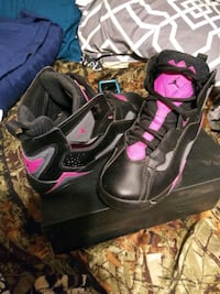 pair of black-and-pink Jordans shoes Conover, 28613