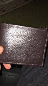 Brown leather bi-fold wallet Sebastian, 32958