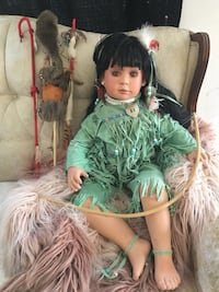 Native American porcelain doll Los Angeles, 91402