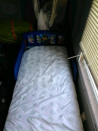 blue and white bed frame Midwest City, 73130