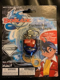 Beyblade Mini Keychain Tops. NEW SEALED. Really works Ajax, L1T 1V1