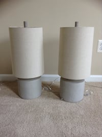 Two grey base with beige lamp shade (brand new) Fairfax, 22033