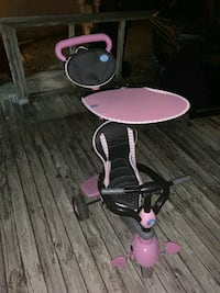 Pink Stroller Tricycle
