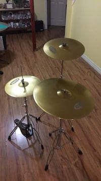 Hi-hat, ride, and crash cymbals with stands  Pickering, L1V 7H5