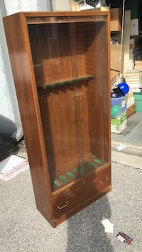 Wooden and glass gun display case North Fort Myers, 33903
