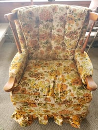 brown and green floral fabric sofa chair Lycoming County