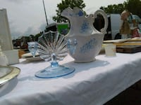 Pale blue and white large water pitcher Perry, 48872