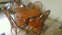 brown wooden dining table set 555 km