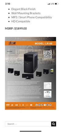 Wireless Surround Sound System. 5.1 Great gift for the man in your life.  Manassas, 20111