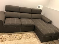 Sectional sofa bed with storage Melville, 11747