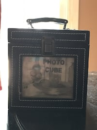 Real Leather Photo Cube With Storage Space Inside Sherwood Park, T8A 3Y3