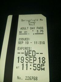 Day pass Springfield, 65806
