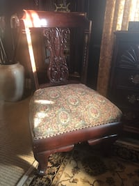 GORGEOUS PARLOR CHAIR / INLAID MOTHER OF PEARL DESIGNS Baltimore, 21229