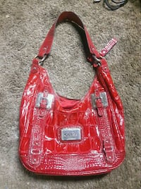 red and brown leather hobo bag Abbotsford, V2T 3M2