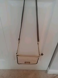 white and brown leather crossbody bag Silver Spring, 20904