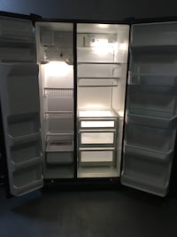 Black side-by-side refrigerator