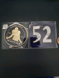 Ray Lewis hall of fame coin signed Crofton, 21114