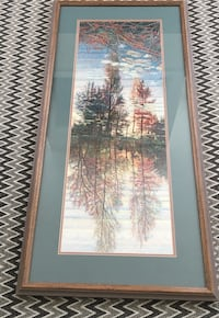 Brown Frame picture with trees on the lake Gainesville, 20155