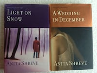 2 Anita Shreve Hardcover Books: A Wedding In December & Light Snow Concord, 03301