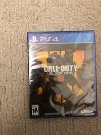 Ps4 call of duty Black ops 4 unopened Richmond, 23220