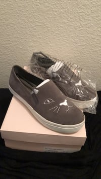 Pair of Gray Kitty Slip on Sneakers. Price is negotiable  Frisco, 75034