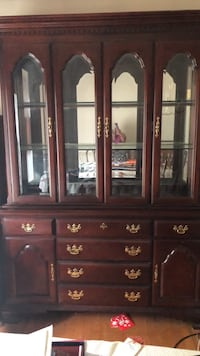 brown wooden china buffet hutch Severn, 21144