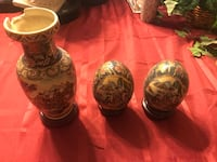Four brown and white ceramic vases District Heights, 20747