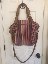 Fabric and leather shoulder bag  43 km