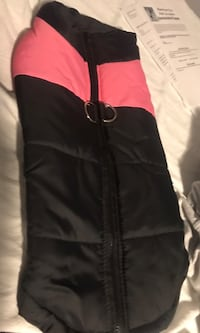Dog coat - pink/black Manchester, 03102