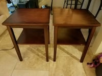 Two small nightstands/endtables real wood Dallas, 75214