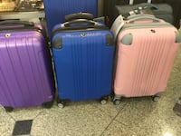3 pc luggage (varieties of color) plus taxes Toronto, M9R 3Z1