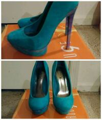 Teal Heels Size 5.5 Worn once! Virginia Beach, 23456