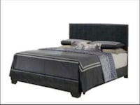 Upholstered Leather Bed Only $199