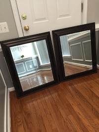 two brown wooden framed mirrors Lorton, 22079