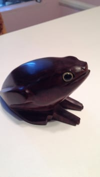 brown frog paper weight