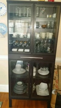 Black tall cabinet for dishes Norfolk, 23517