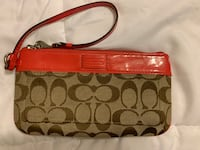 Coach coral and tan wrist wallet  Capitol Heights, 20743