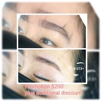 *Promo-Microblading, Ombre, Combo brows, Eyeliner  Burnaby