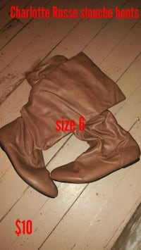 Charlotte Russe slouch boots, size 6 217 mi